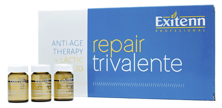 Exitenn Repair Trivalente Восстанавливающая эмульсия для волос в ампулах (10 х 7 мл)